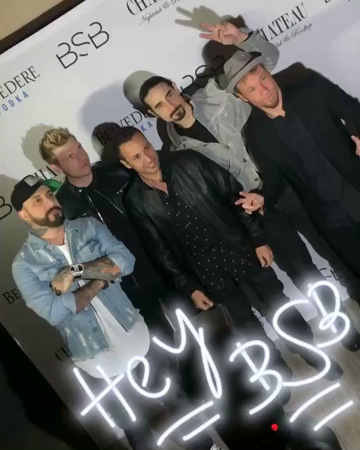 Oh hi, @backstreetboys!!!