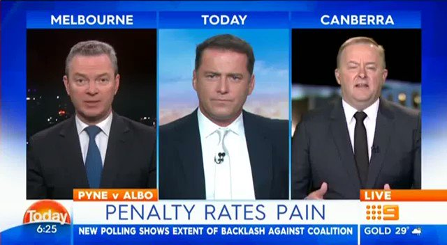Penalty rates matter. RT if you agree. https://t.co/inycla8DKM