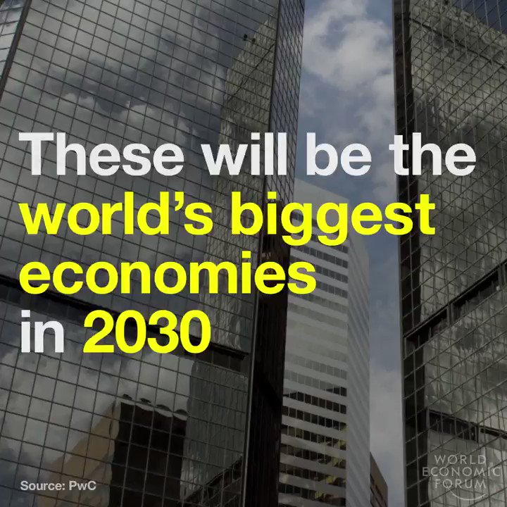 The world's largest economies by 2030:  1 China 🇨🇳 2 India 🇮🇳 3 United States 🇺🇸 4 Japan 🇯🇵 5 Indonesia 🇮🇩  6 Russia 🇷🇺 7 Germany 🇩🇪 8 Brazil 🇧🇷 9 Mexico 🇲🇽 10 UK 🇬🇧 #NASSCOM_TLF
