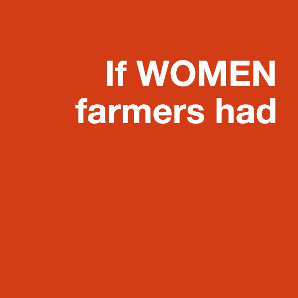 Gender equity in agriculture boosts #foodsecurity. Close the gap. Feed the globe. https://t.co/Bpl9xQEKF1 #IWD2017 https://t.co/cF5uQhUcIR