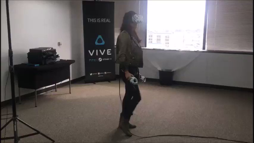 'I got a neon freaking demon in my crib' @MRodOfficial tries out the Vive!