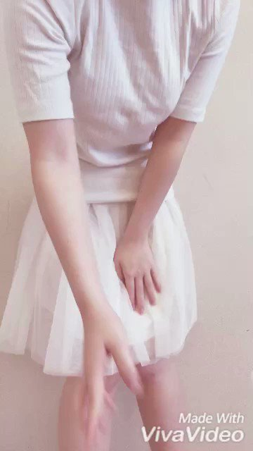 """まるちゃんonTwitter:""""❤️ぬぎぬぎ動画❤️真っ白な服で撮っ..."""