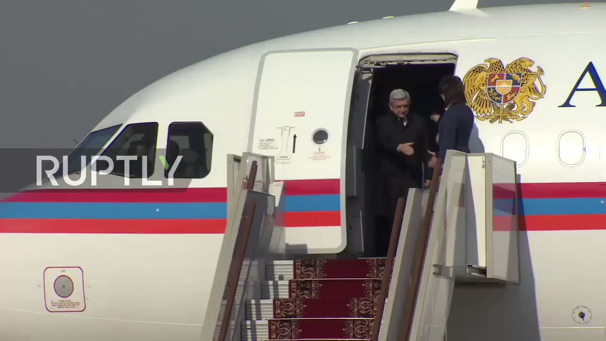 Serzh Sargsyan arrived in Moscow: Tomorrow the President of Armenia have negotiations with Putin in the Kremlin