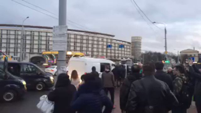 Video from the site of arrests of anarchists at Minsk trolleybus
