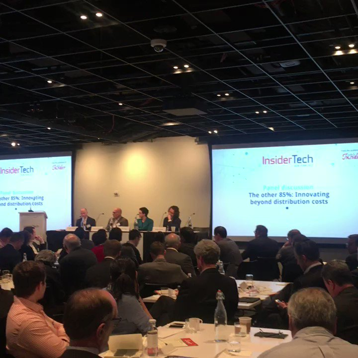 Panel discussion - The other 85%: Innovating beyond distribution costs  #InsiderInsurtech #reinsurance https://t.co/cOAGzApyHI