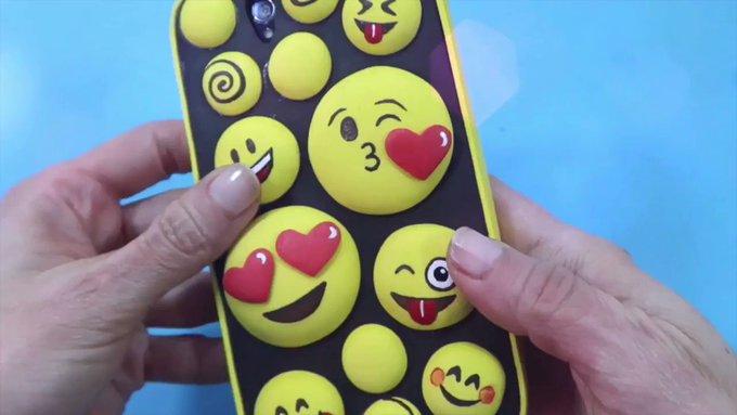 Manualidades fáciles, Funda de móvil celular de fomi emojis