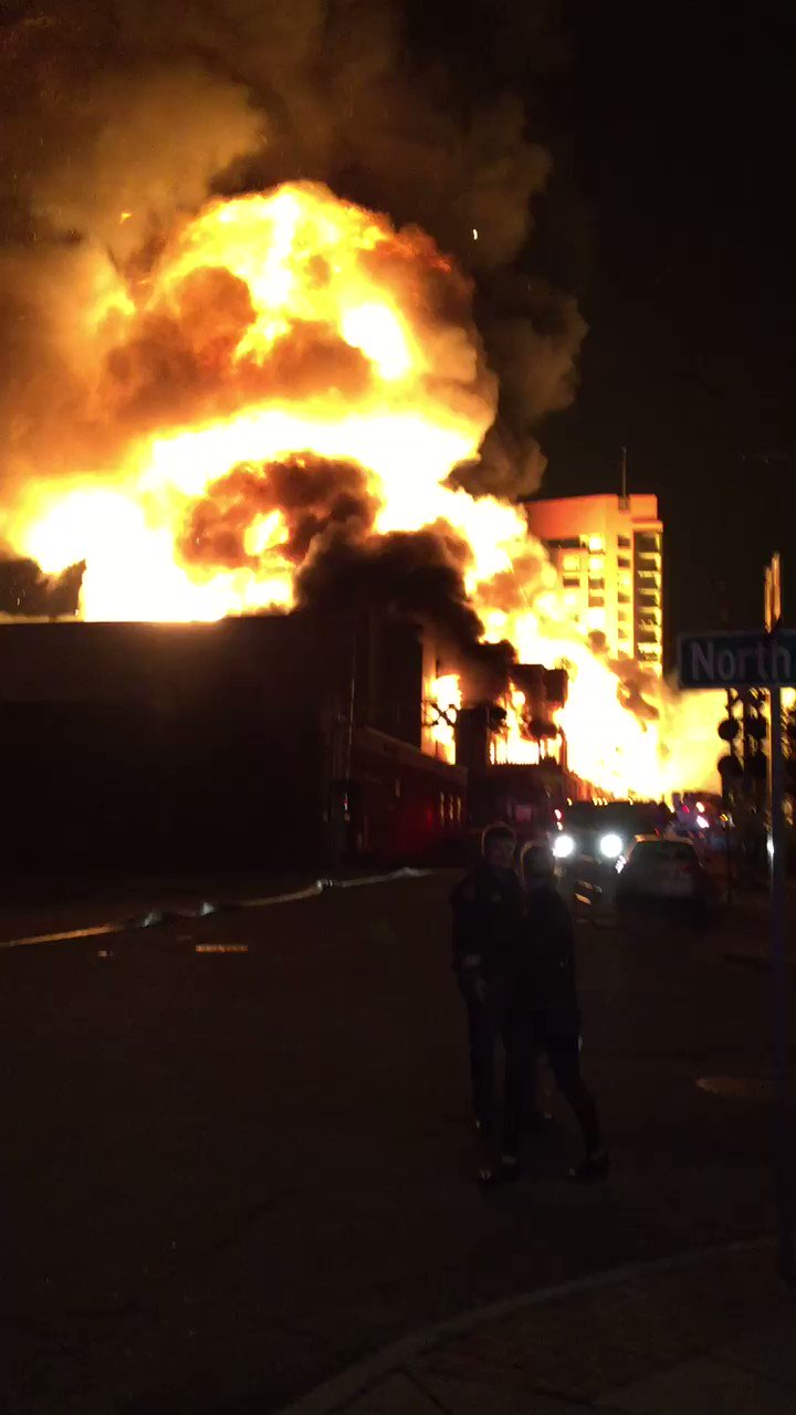 Thumbnail for Massive 4-alarm fire engulfs building under construction in Raleigh
