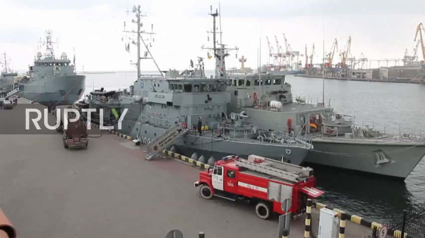 Four ships from the Standing NATO Mine Countermeasures Group 2 (SNMCMG2) arrived in Ukraine's port of Odessa on Friday.