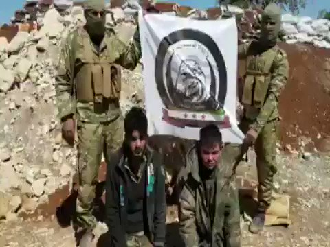 Euphrates Shield (Northern Hawks Brigade) Forces captured 2 Assad (possible foreign) militants near AlBab city