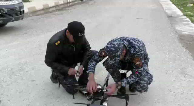 Equipping and deploying of weaponised quadcopters by Iraq's Federal Police to target Da'ish militants in western Mosul.
