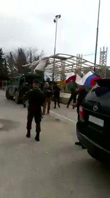 Russian forces filmed in Kafr Janneh. Village half way between Afrin city and Azaz