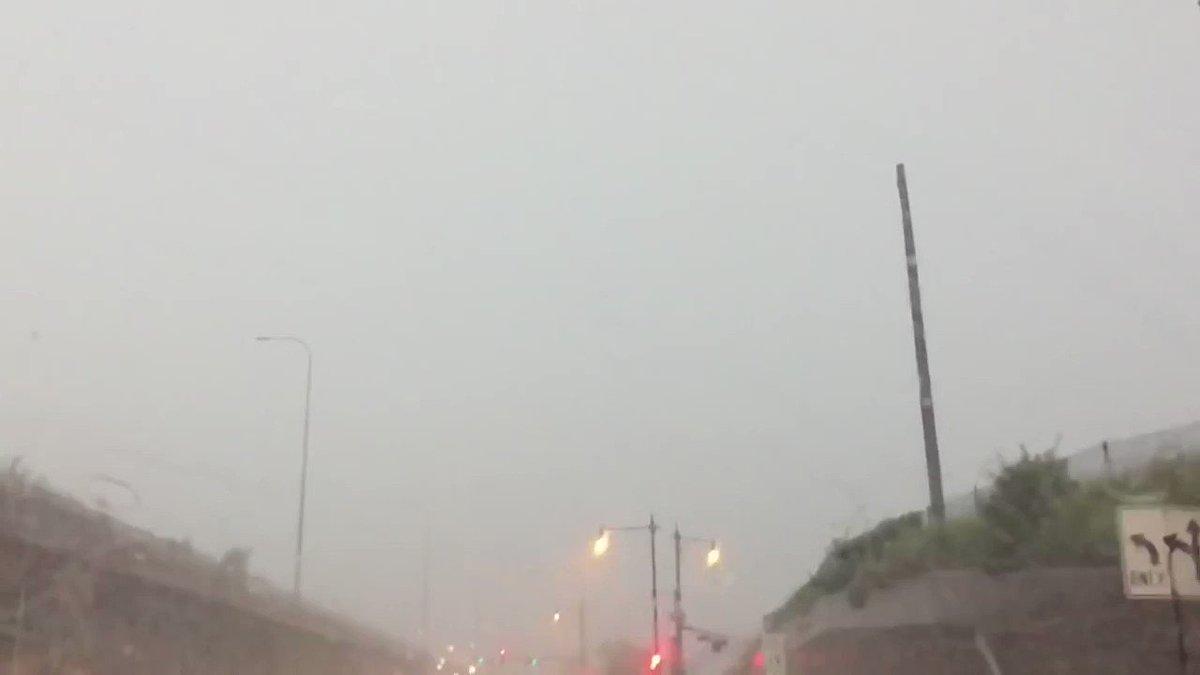 VIDEO: Lightning striking pole https://t.co/Mg42rMLgiS