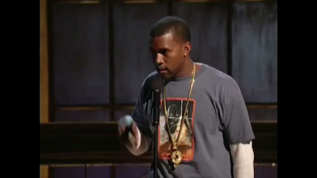 "kanye performed an early spoken word version of ""all falls down"" on de..."