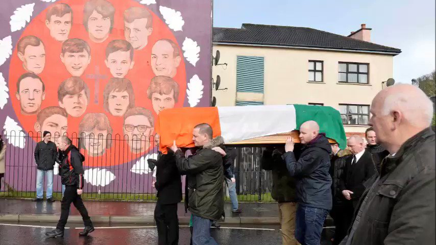 WATCH - Martin McGuinness' coffin is carried through the streets of hi...
