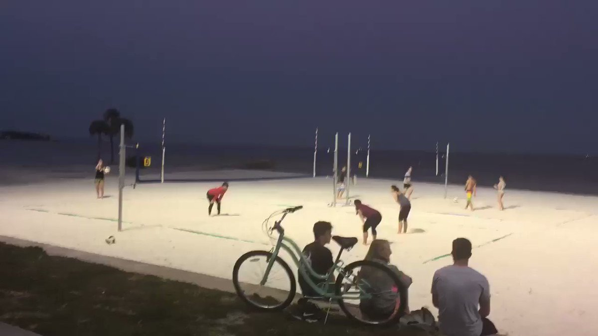 Spring in St. Pete/Clearwater: waterfront volleyball at a buzzing Nort...