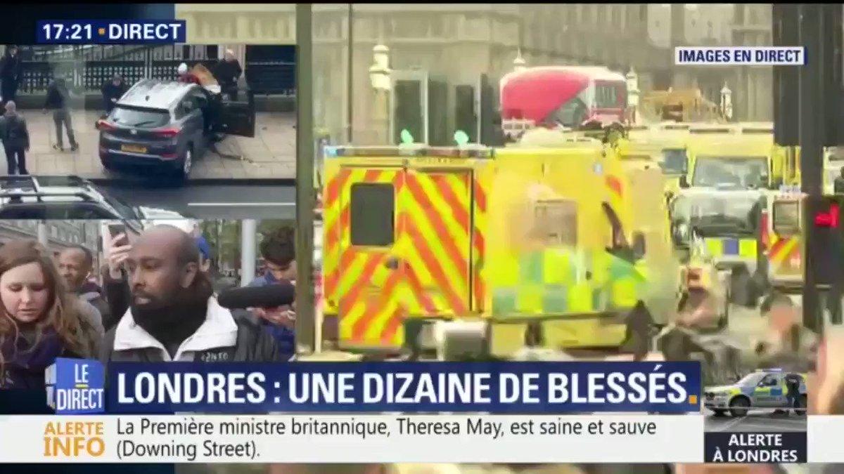 Attaque à Londres: un témoin raconte avoir vu une voiture accélérer su...