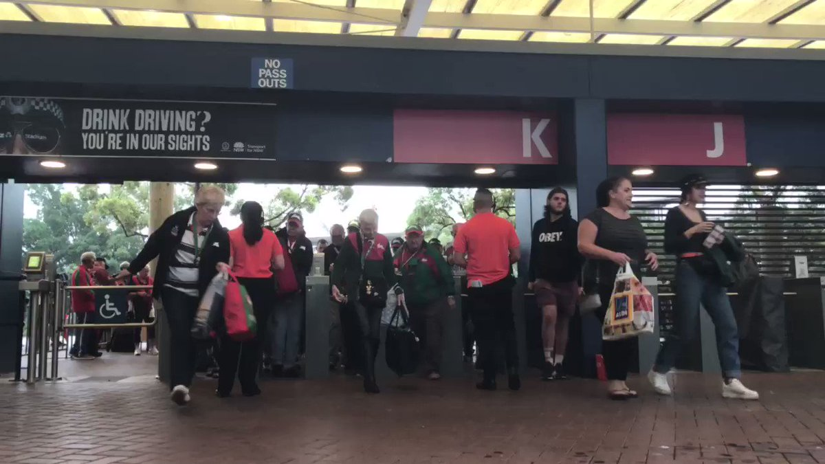 Gates are open here at @ANZStadium!   #GoRabbitohs #NRLSouthsRoosters....