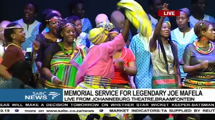 Its full of song and dance at the #JoeMafelaMemorial. Watch the live s...