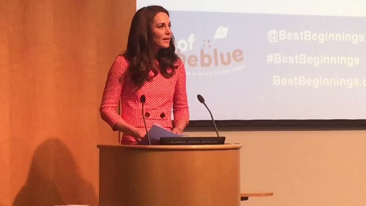 Duchess of Cambridge speaks about the #WestminsterAttack yesterday at...