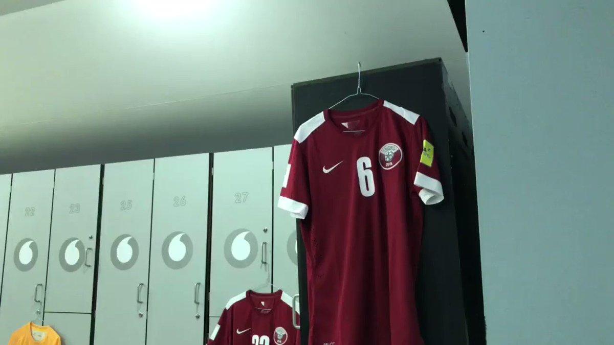 غرفة تبديل منتخبنا لمباراة إيران ضمن تصفيات كاس اسيا المؤهلة الى #كأس_...