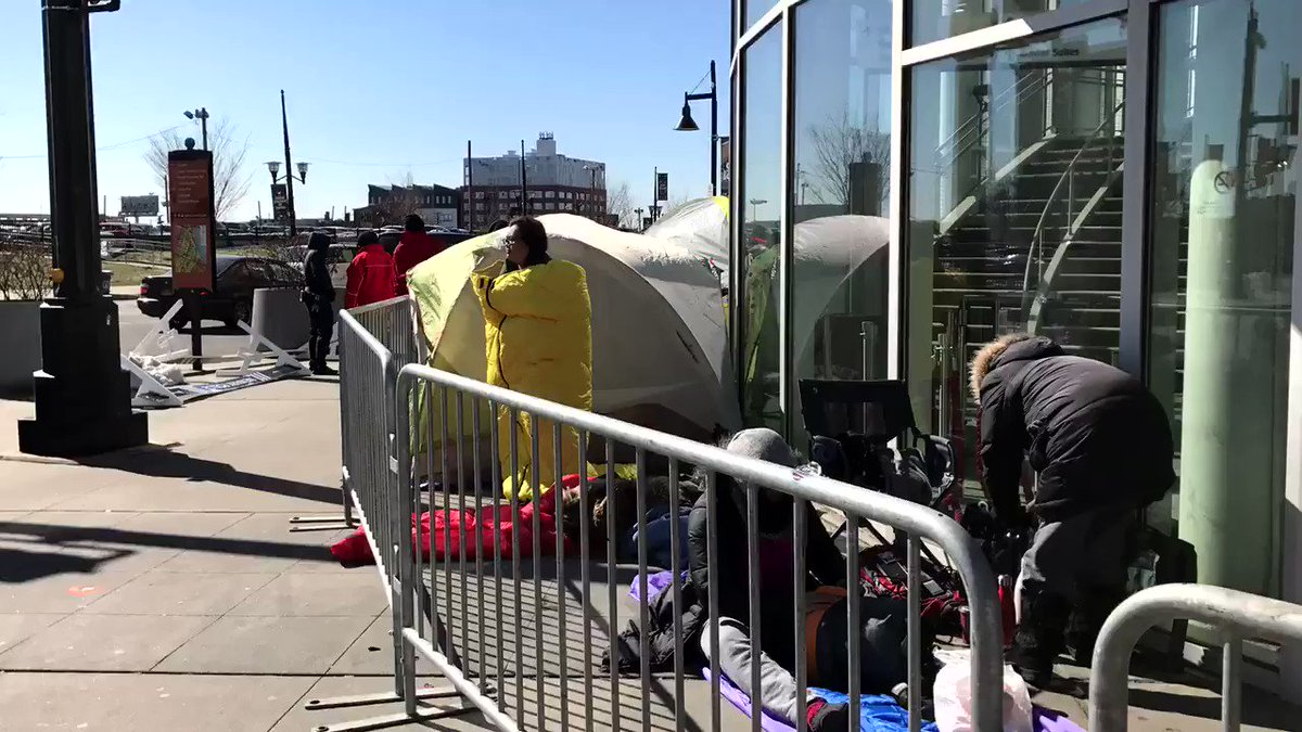 It's only 10:30 a.m. but these @BTS_twt fans are ready for The Wings Tour at #PruCenter! https://t.co/0mrgBwfbuG