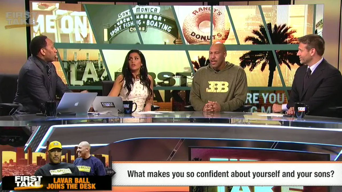 Today's episode of First Take sure is eventful. 😳😳😳 https://t.co/PhGD4...