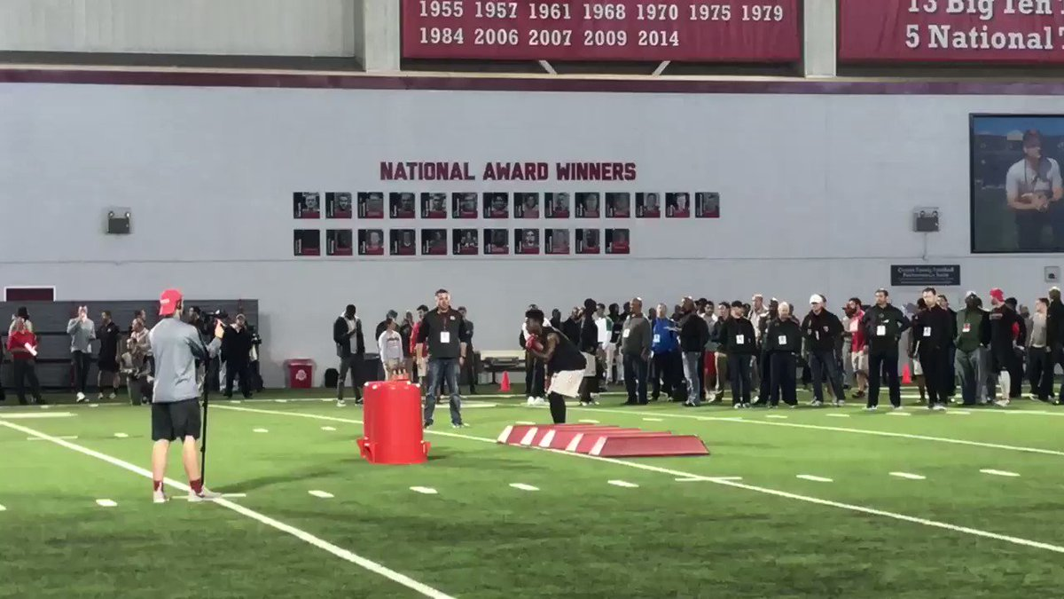 Wondered if Curtis Samuel would do RB drills. He is https://t.co/yYixQ...