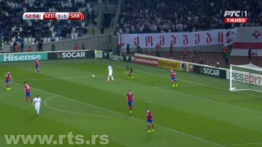 Sjajan gol Mitrovića, Gruzija - Srbija 1:2 #GEOSER  #WorldCupQualifier...