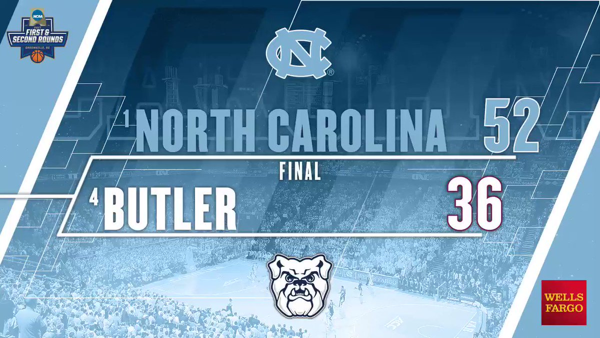 Final: Carolina defeats Butler, 92-80  #GetIntoIt #Elite8  🐑🏀 https://...