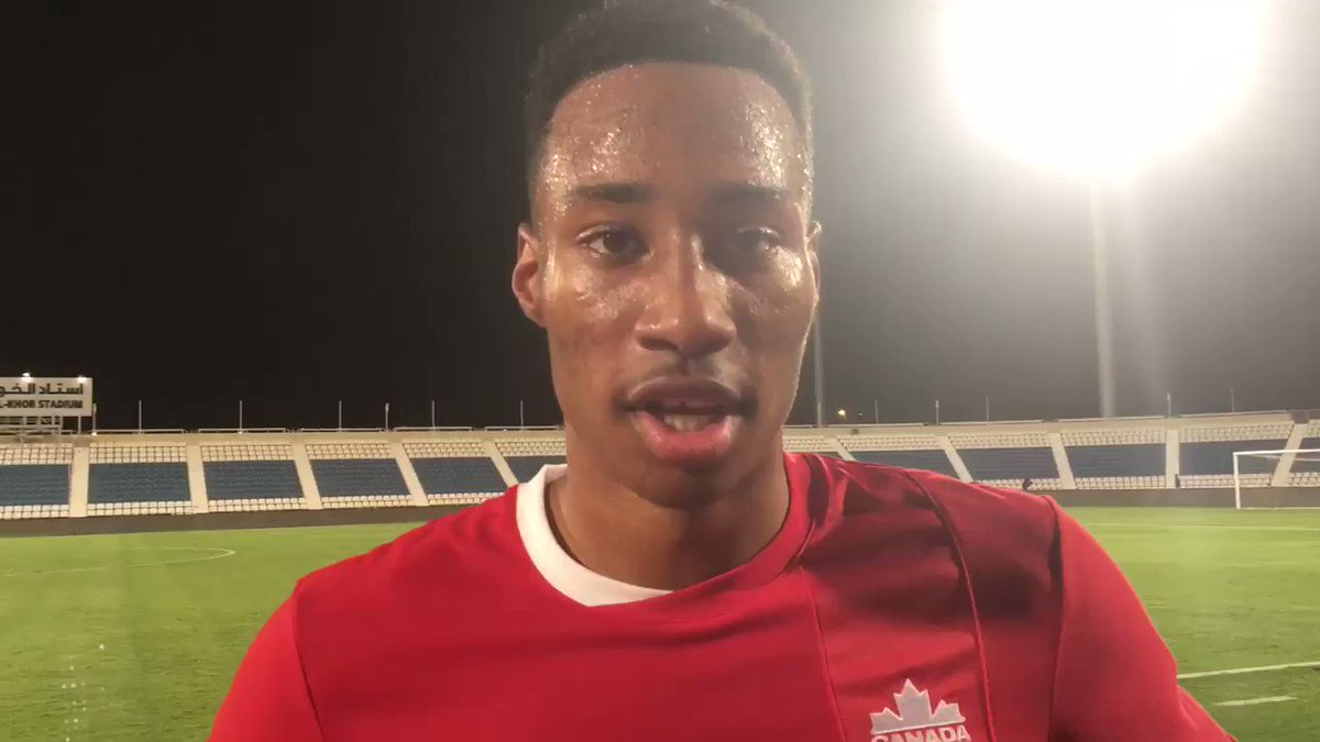 HT in Al-Khor, Qatar 🇶🇦  #canm23 comments from Mark-Anthony Kaye https...