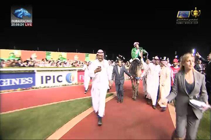 فرحة سعودية بعد فوز الجواد أروجيت بلقب #كأس_دبي_العالمي #DUBAIWorldCup...