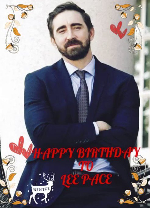 Happy birthday to you.       -from Lee Pace TH-