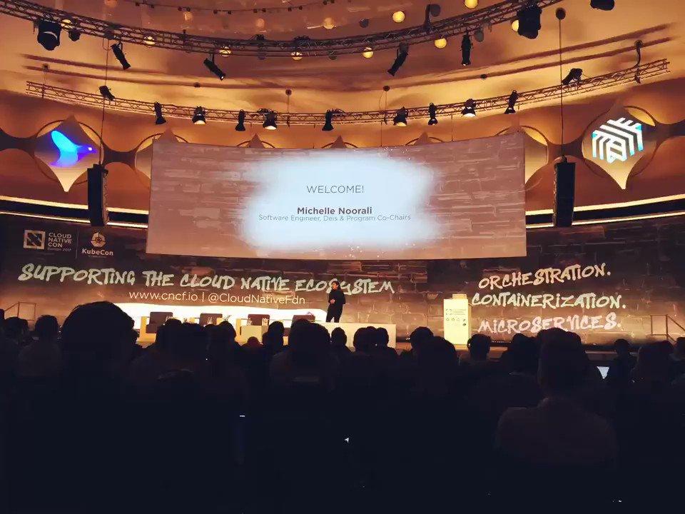 Pre-keynote at #CloudNativeCon / #Kubecon https://t.co/L4BzG6cij5