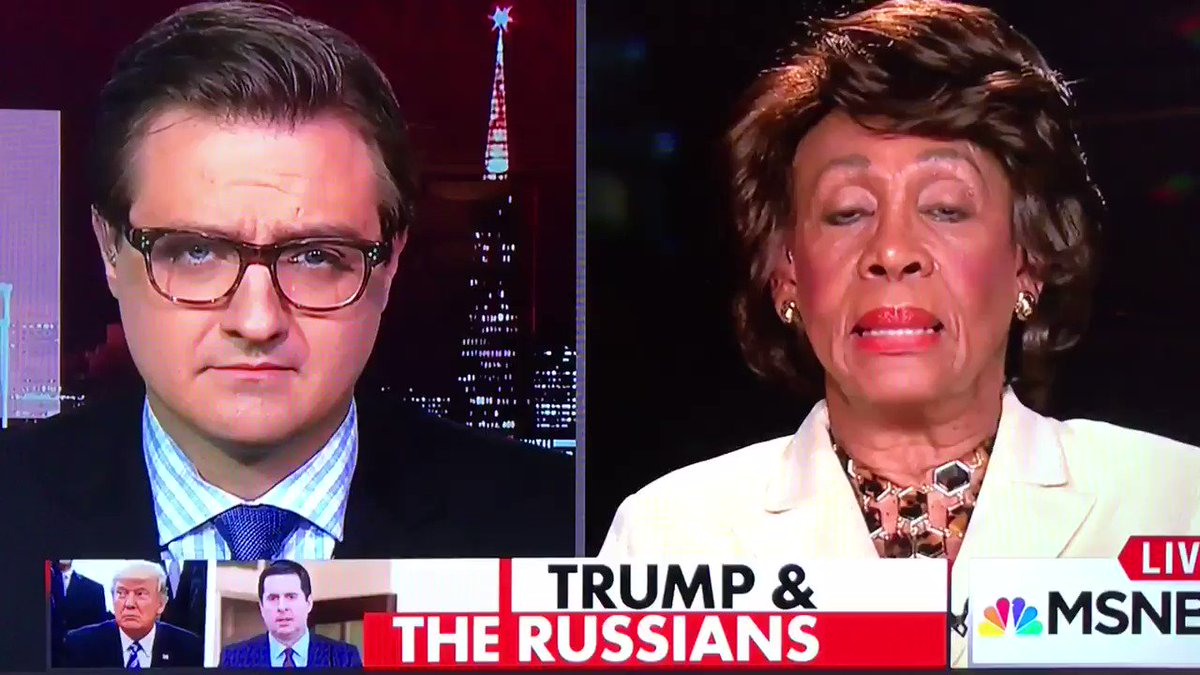 Rep. Maxine Waters just now. Hot damn! https://t.co/bAirCIFrUG