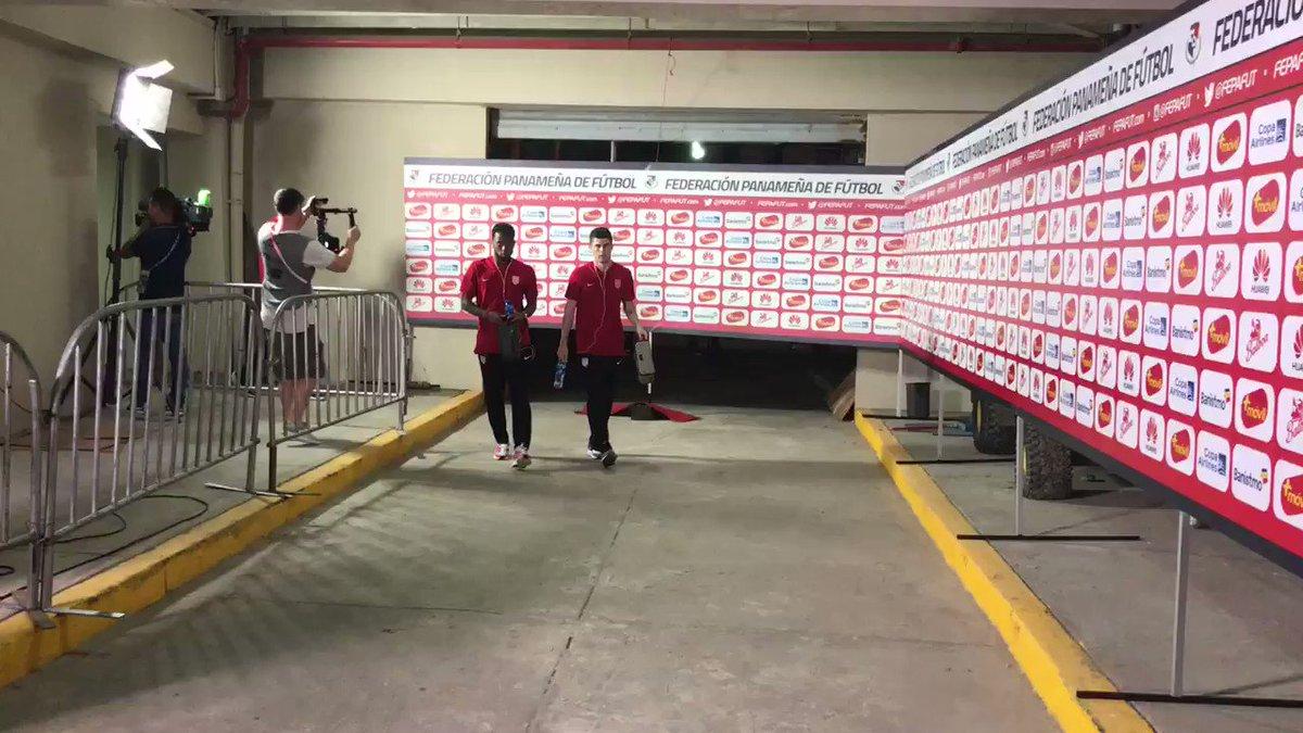 The #USMNT has arrived 🏟📍 One hour until kickoff at Estadio Rommell Fe...