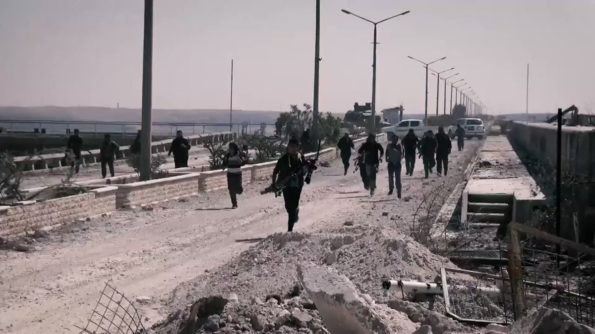 ISIS began pounding the Dam with Mortars. Engineers evacuated and SDF/YPG reinforcements arrived.