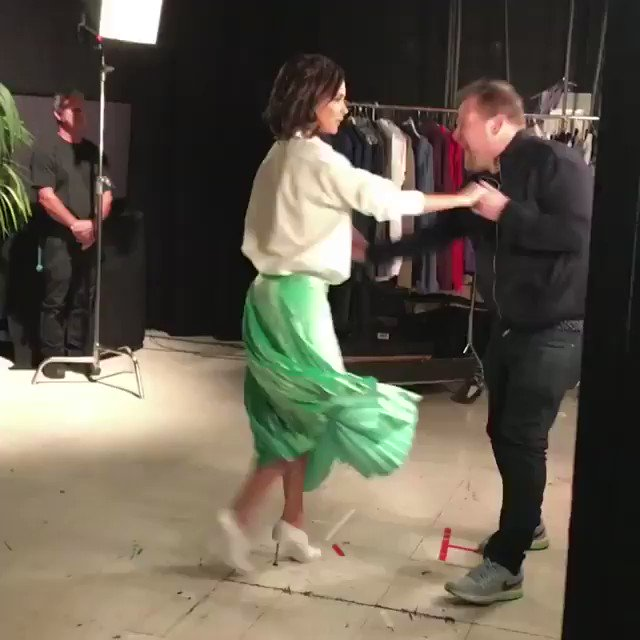 Excited! My secret filming with @JKCorden airs tonight on the @latelateshow! X vb https://t.co/D2KEi9MYxQ