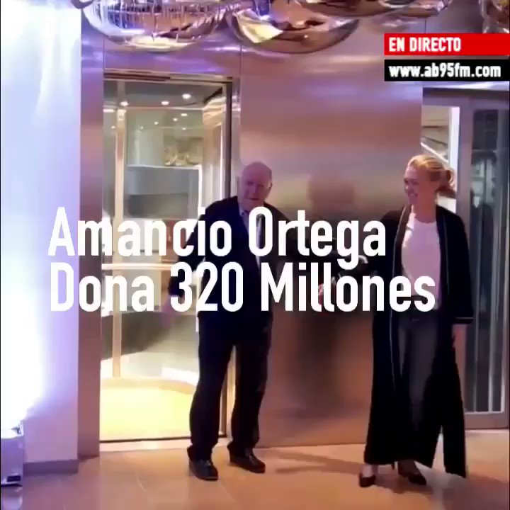 Image for the Tweet beginning: Enorme. #LuchaContraElCancer #AmancioOrtega En directo -----------------------------