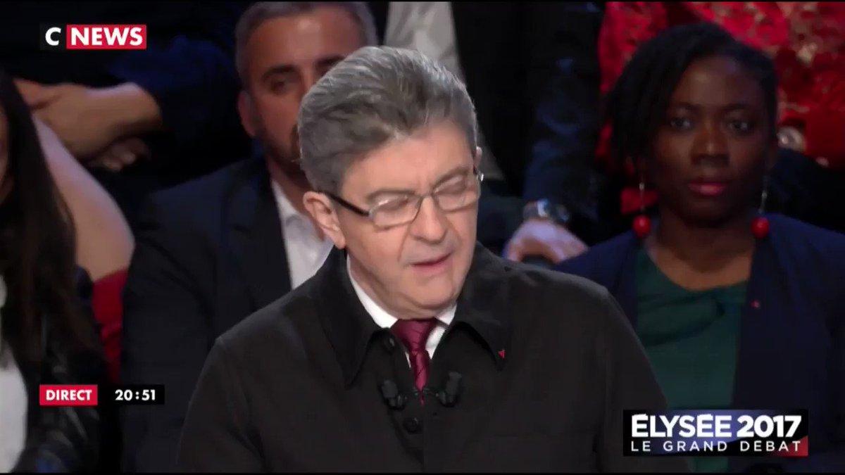 Mélenchon a réussi à caler 'RENDRE L'ARGENT' dès les premières minutes, il est ouf. #LeGrandDebat
