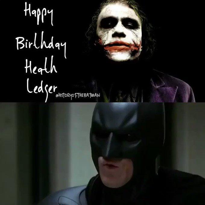 Wish the late Heath Ledger, The Dark Knight\s a happy birthday!