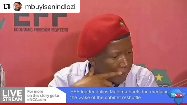 Well, @EFFSouthAfrica CIC @Julius_S_Malema did warn us days ago.