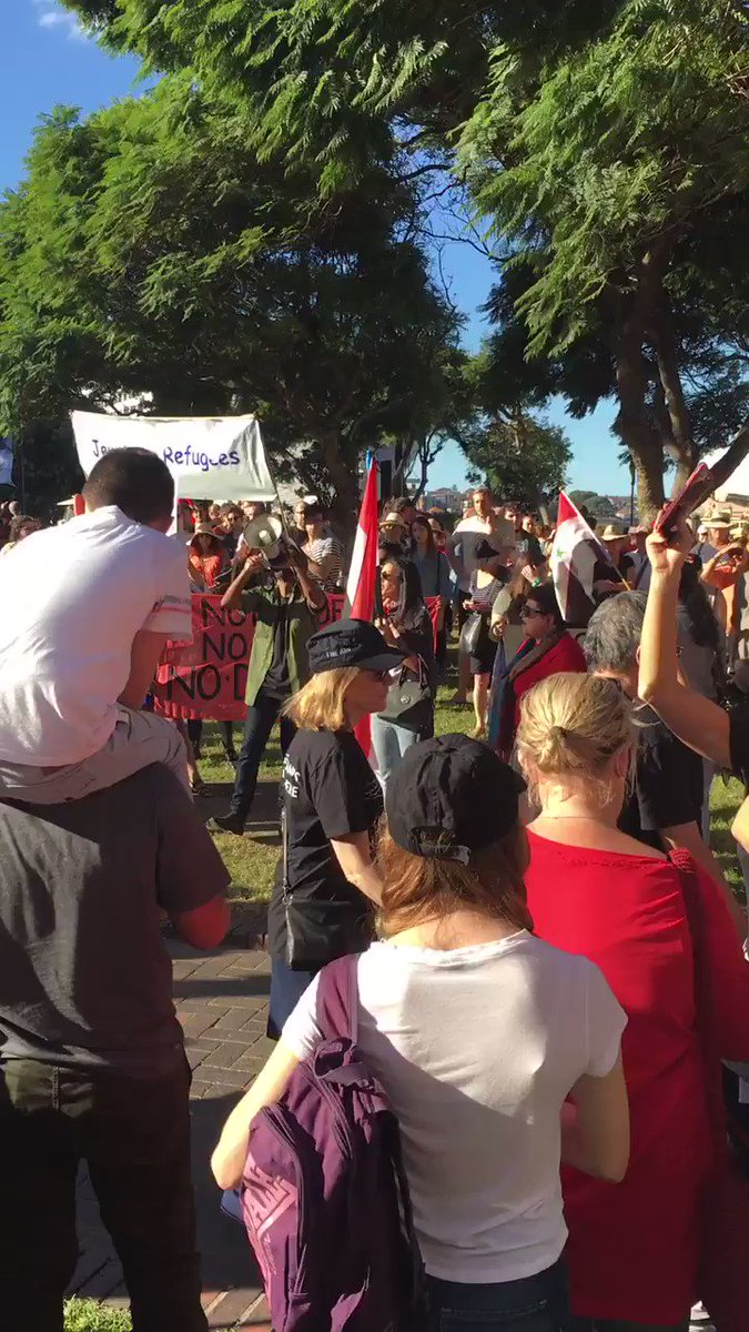 Pro-Assad rally in Sydney, Australia