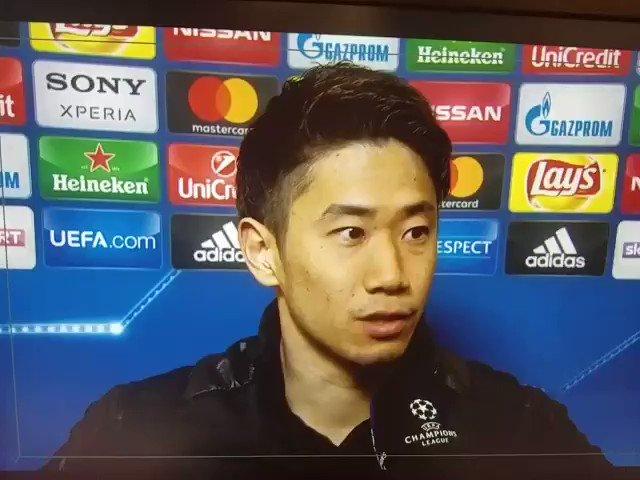 試合後の香川選手です。 https://t.co/OgIYKLllTU