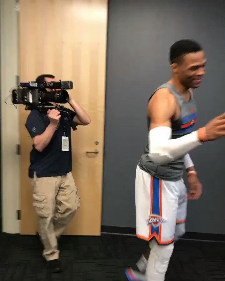 Russell Westbrook meets The Big O, Oscar Robertson! https://t.co/EU0PE10FlS