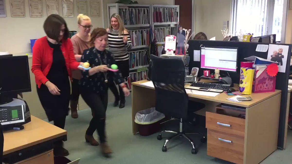 We had #easterfun in the office today! Anyone for an #easter egg and spoon race? 😂 @HambMerch