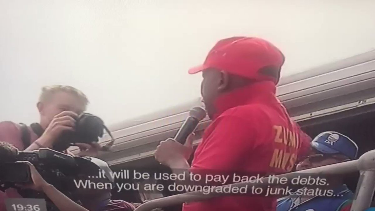 Julius explains what a downgrade means to the nation in Sepedi. https://t.co/0ehzBPamUa