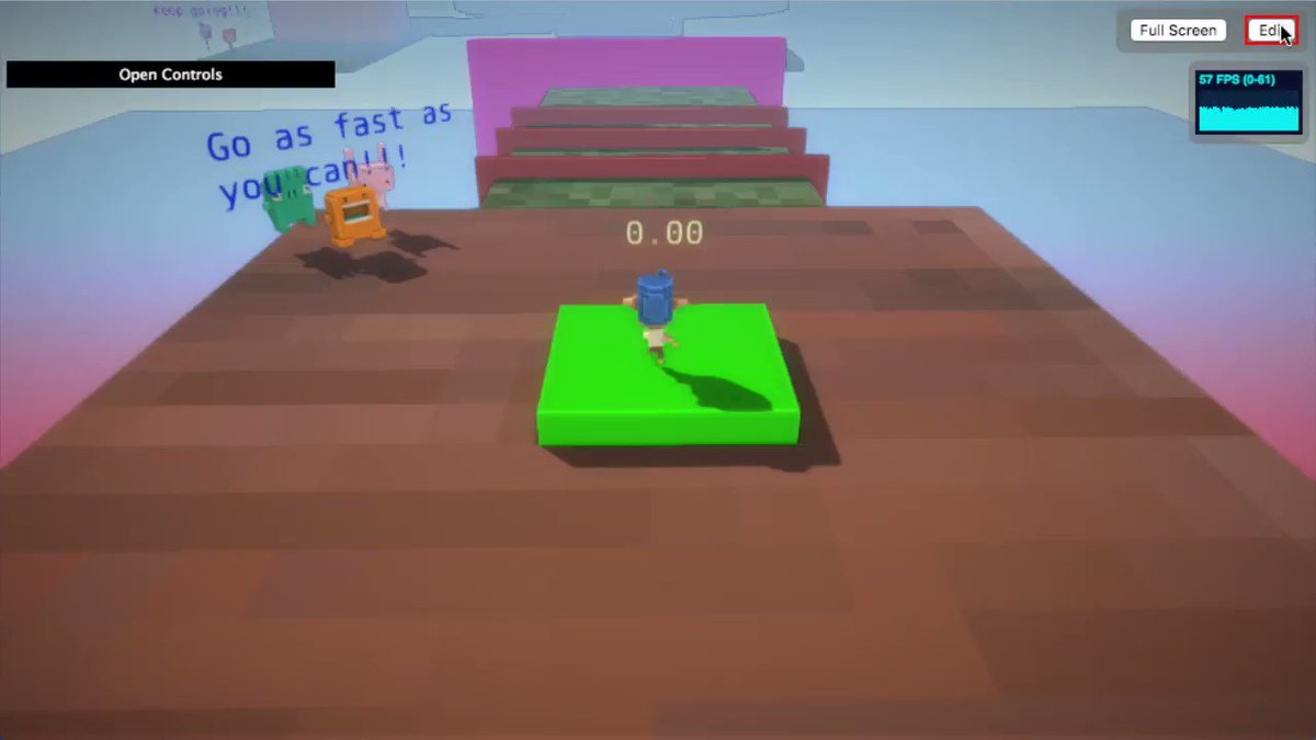 Added some more stuff to my obstacle course :) #dotbigbang #indiedev #gamedev