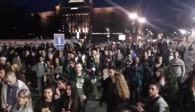 Protests at Serbian Parliament. Tomorrow at 6 to protest again