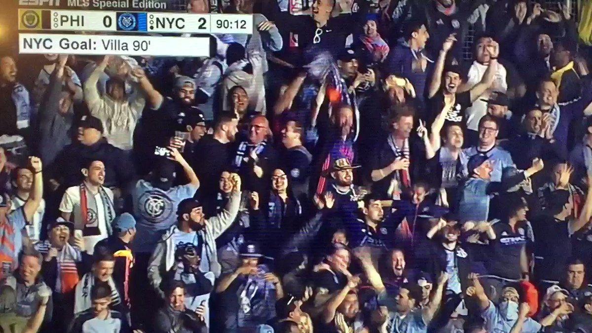 Take a bow, David Villa!! #NYCFC #Union #MLS https://t.co/jLdpjycHZe