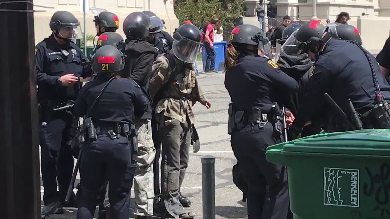 Thumbnail for Protesters brawl at tax day rally in California